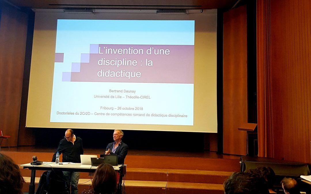 Les doctoriales du 2Cr2D – Présentation des thèses romandes en didactique disciplinaire