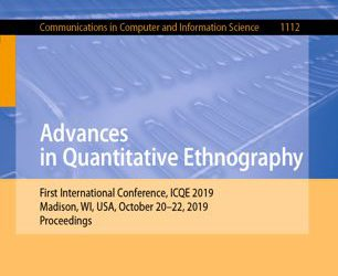 International Conference on Quantitative Ethnography à Madison (WI)